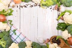 Cauliflower и брокколи Стоковые Фотографии RF