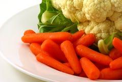 cauliflower морковей Стоковое Изображение