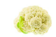 Cauliflower. Isolated on white background Stock Images