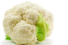 Cauliflower. Isolated on white background Royalty Free Stock Photos