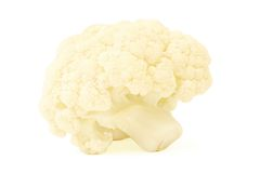 Cauliflower. Cabbage isolated on white background Royalty Free Stock Photography