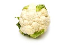 Cauliflower. Vegetable cauliflower close up on white bacground Stock Photos