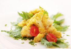 Cauliflower. Dish from the cauliflower fried in fried Royalty Free Stock Image