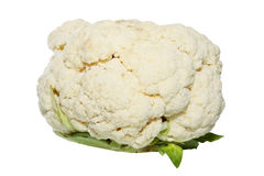 Cauliflower. Is isolated against the white background Stock Photos