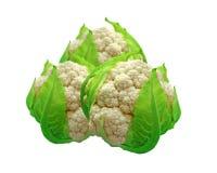 Cauliflower. Isolated on white background Royalty Free Stock Photo