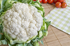 Cauliflower. Fresh organic cauliflower on table Royalty Free Stock Photo