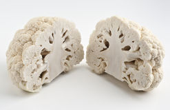 Cauliflower. Cut in half (like a brain stock photography