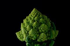 Cauliflower. On the black background Stock Photo