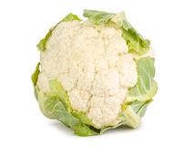 Cauliflower. Whole isolated on white Royalty Free Stock Images