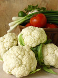 Cauliflower. Summer vegs Stock Photos
