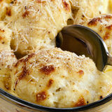 Cauliflower Au Gratin stock photography