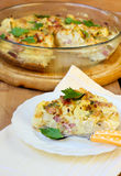 Cauliflower and bacon quiche Royalty Free Stock Photo