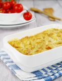 Cauliflower baked with cheese Stock Photography