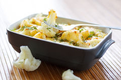 Cauliflower baked with egg and cheese Royalty Free Stock Images