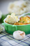 Cauliflower baked with egg and cheese Royalty Free Stock Photography