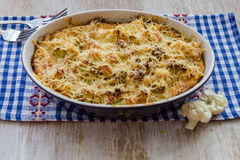 Cauliflower baked with egg and cheese Royalty Free Stock Image