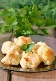 Cauliflower baked with egg Royalty Free Stock Images