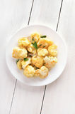 Cauliflower baked with egg Royalty Free Stock Photo