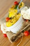 Cauliflower baked Stock Image