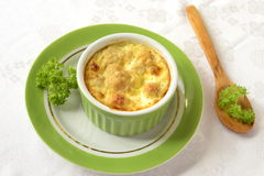 Cauliflower, baked in omelet Royalty Free Stock Photo