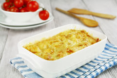 Cauliflower Baked With Cheese Stock Photos