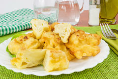 Cauliflower battered Royalty Free Stock Photos