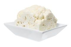 Cauliflower in Bowl. On White Background Stock Image