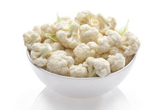 Cauliflower in bowl Stock Photos