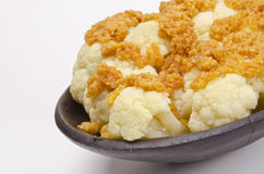 Cauliflower with breadcrumbs Stock Photography