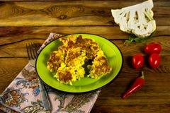 Cauliflower in breadcrumbs Royalty Free Stock Photo