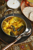 Cauliflower Brinjal Curry from India Stock Image