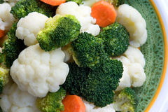 Cauliflower and broccoli Stock Images