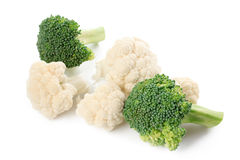 Cauliflower and broccoli Royalty Free Stock Photography