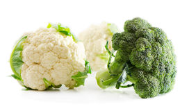 Cauliflower and broccoli Stock Photo