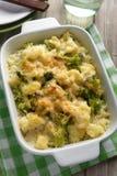 Cauliflower and broccoli cheese Stock Image