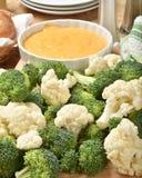 Cauliflower and broccoli Royalty Free Stock Photography