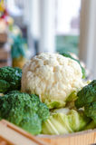 Cauliflower and broccoli Stock Photos