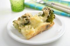 Cauliflower and broccoli gratin royalty free stock image