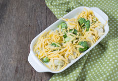 Cauliflower and broccoli gratin with cheese Royalty Free Stock Images