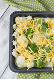 Cauliflower and broccoli gratin with cheese Stock Images