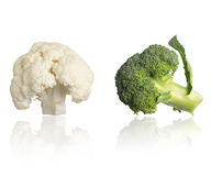 Cauliflower and Broccoli Royalty Free Stock Images