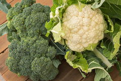 Cauliflower & Broccoli Stock Photo