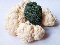 Cauliflower and broccoli. Healthy food royalty free stock photo