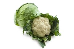 Cauliflower and Cabbage Royalty Free Stock Photo