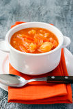 Cauliflower, carrot and rice tomato soup Royalty Free Stock Photography