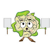 Cauliflower cartoon character Royalty Free Stock Photo