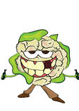 Cauliflower cartoon character Stock Photo