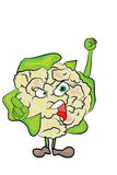 Cauliflower cartoon character Royalty Free Stock Image