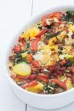 Cauliflower casserole. A delicious vegetarian cauliflower casserole Royalty Free Stock Photo