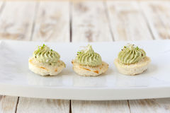 Cauliflower casseroles with avocado cream Royalty Free Stock Image